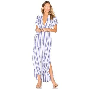 Blue and white striped Onia dress from Revolve